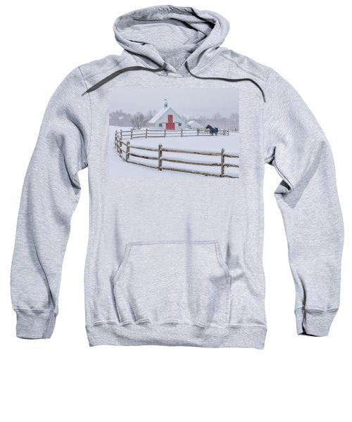 Farm In The Snow Sweatshirt