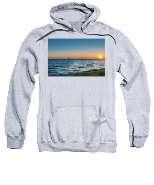Ferry Going Into Sunset Sweatshirt