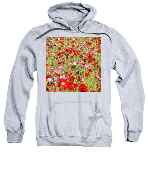 Field Of Red Poppies Sweatshirt