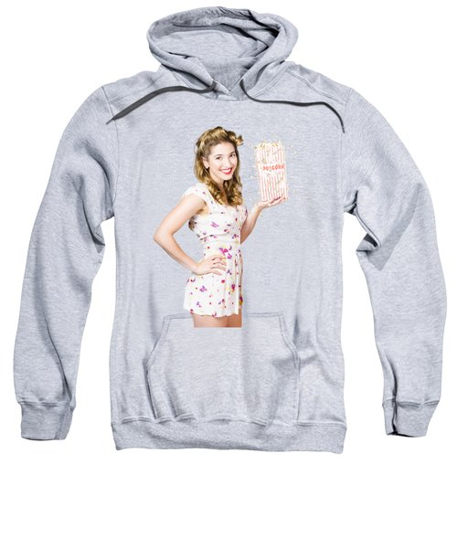 Sweatshirt featuring the photograph Film And Cinema Pin-up Lady by Jorgo Photography - Wall Art Gallery