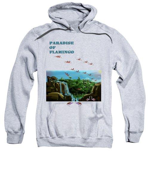 Fish Lake And Flamingo Paradise Sweatshirt