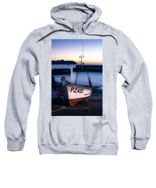 Fishing Boat In Mullion Cove Sweatshirt