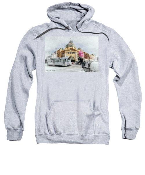 Flinders Street Station, Melbourne Sweatshirt