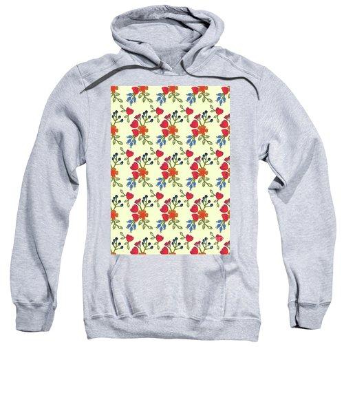 Flora Print, Cut Paper Sweatshirt