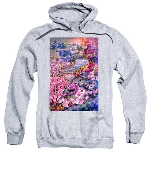 Floral Embedded Sweatshirt