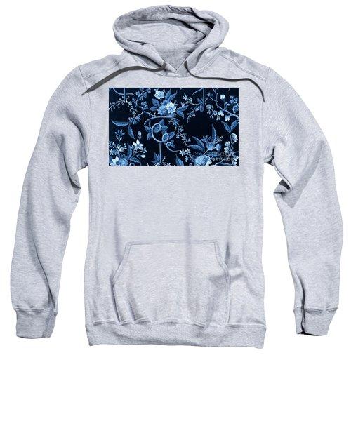 Flowers On Dark Background, Textile Design Sweatshirt