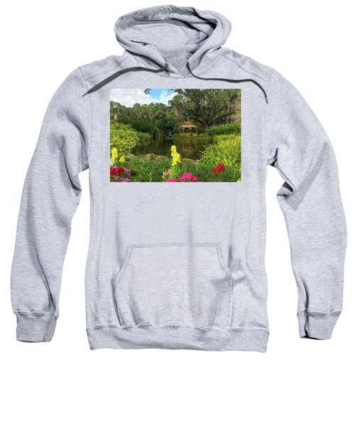 Flowers To Gazebo By The Lake Sweatshirt