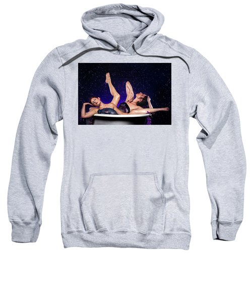 Achelois And Sister Bathing In The Galaxy Sweatshirt