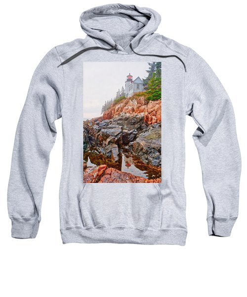 Foggy Bass Harbor Lighthouse Sweatshirt