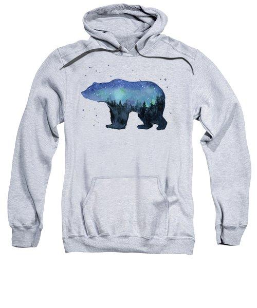 Forest Bear Watercolor Galaxy Sweatshirt
