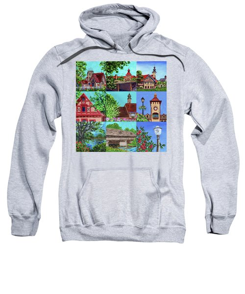 Frankenmuth Downtown Michigan Painting Collage V Sweatshirt
