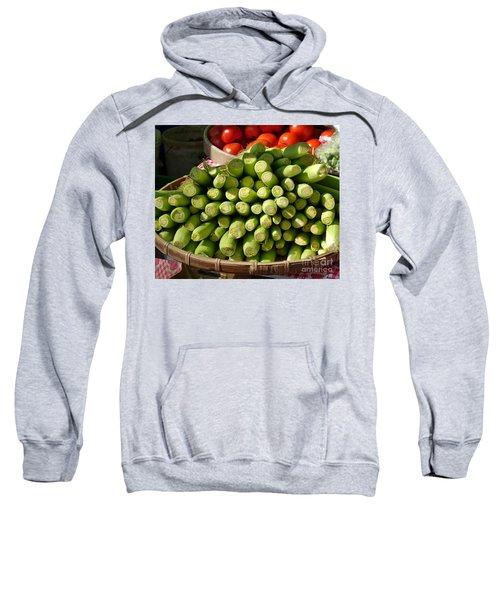 Fresh Baby Corn And Ripe Tomatoes Sweatshirt