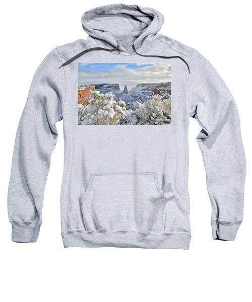 Fresh Snow At Independence Canyon Sweatshirt