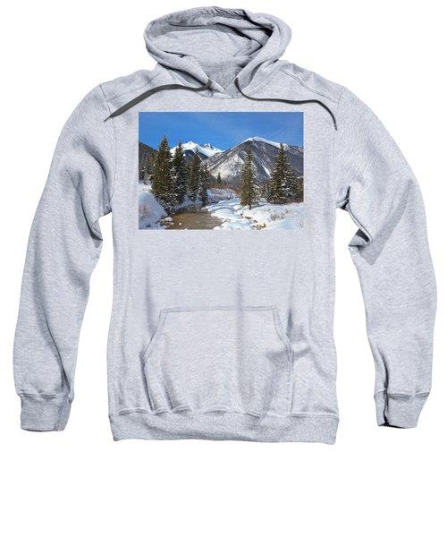 Fresh Snow On Mineral Creek  Sweatshirt