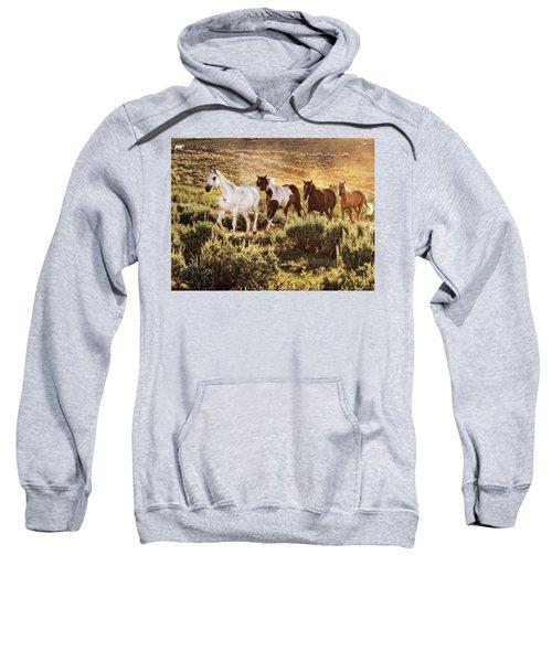 Galloping Down The Mountain Sweatshirt