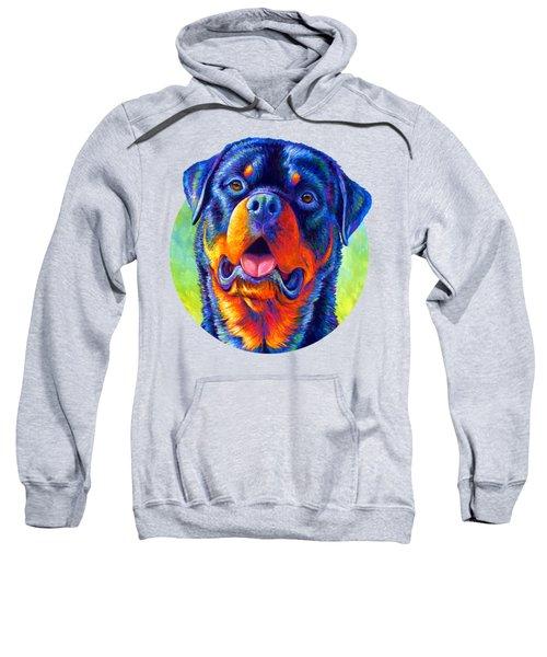 Gentle Guardian Colorful Rottweiler Dog Sweatshirt