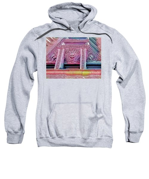 Ghoulish Gargoyles Abstract Sweatshirt