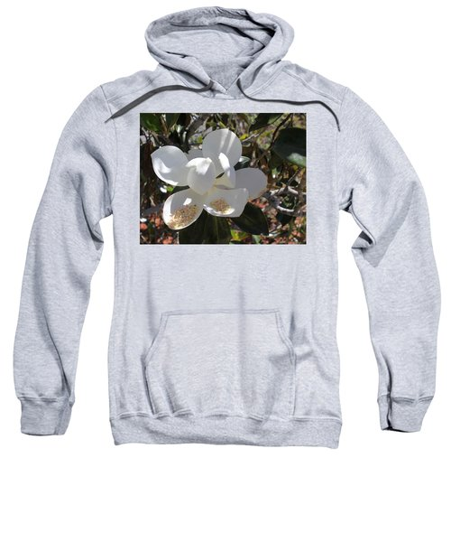 Gigantic White Magnolia Blossoms Blowing In The Wind Sweatshirt