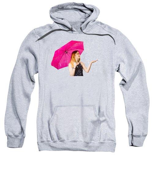 Girl Feeling The Rain When Living In The Moment Sweatshirt