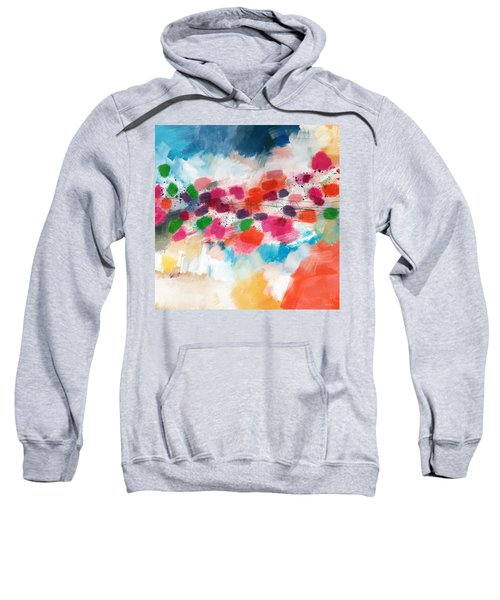 Going Somewhere- Abstract Art By Linda Woods Sweatshirt