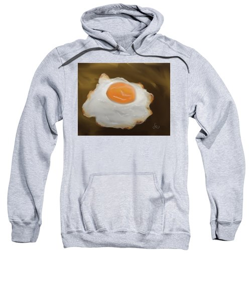 Sweatshirt featuring the pastel Golden Fried Egg by Fe Jones