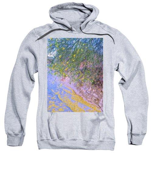 Golden Petals In A Desert Wash Sweatshirt