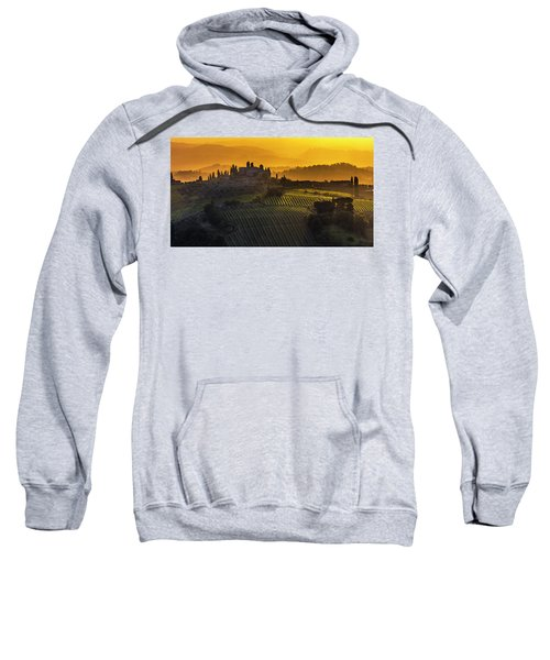 Sweatshirt featuring the photograph Golden Tuscany by Evgeni Dinev