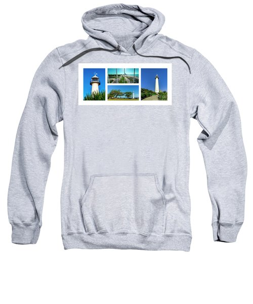 Grand Old Lighthouse Biloxi Ms Collage A1a Sweatshirt