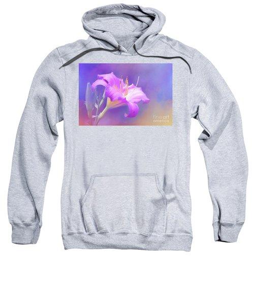 Pretty In Pastel Little Grapette Daylily Sweatshirt
