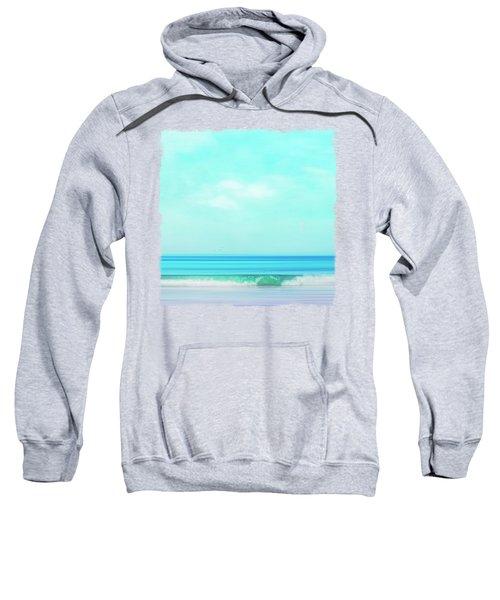Green Wave Abstract Sweatshirt