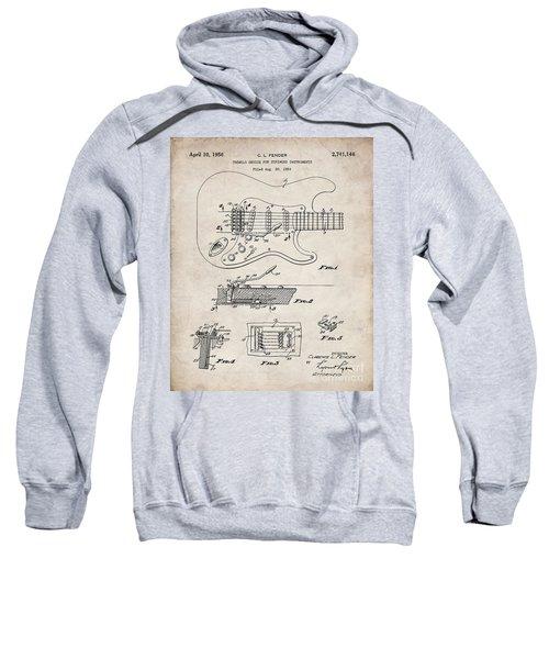 Guitar Tremelo Patent, Fender Tremelo Art - Antique Vintage Sweatshirt