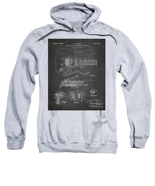 Guitar Tremelo Patent, Fender Tremelo Art - Chalkboard Sweatshirt