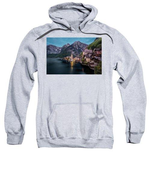 Hallstatt Village At Dusk, Austria Sweatshirt