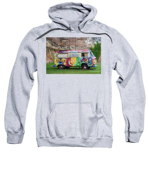 Hippie Dippie Vw Micro Bus Sweatshirt