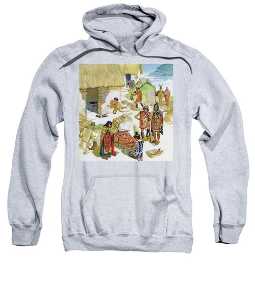 Home In Peru, Circa Ad 100 Sweatshirt