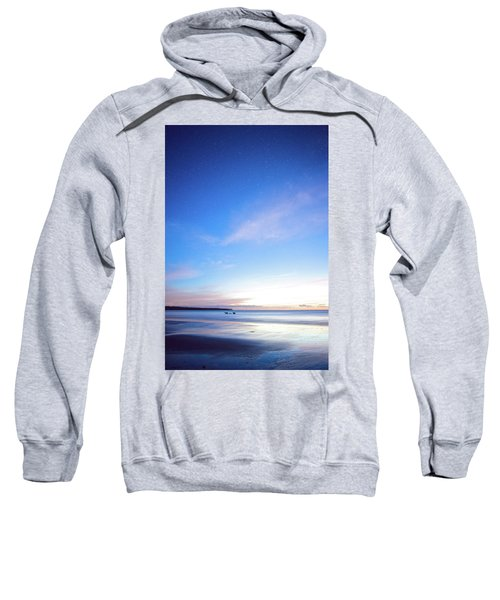 Horses Play In The Surf At Twilight Sweatshirt