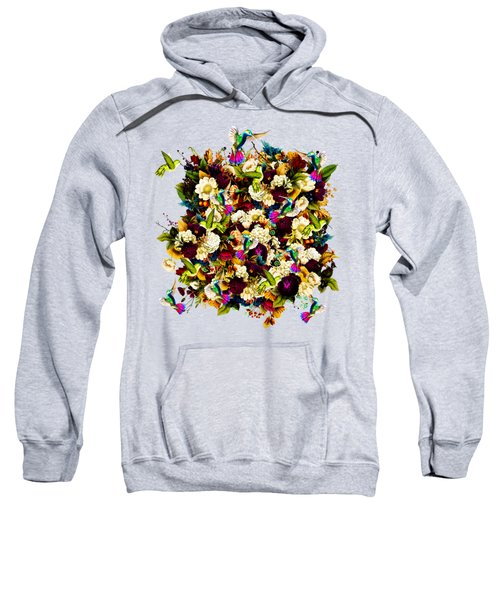 Hummingbird Paradise Ethereal Autumn Flower Pattern Std Shape Sweatshirt