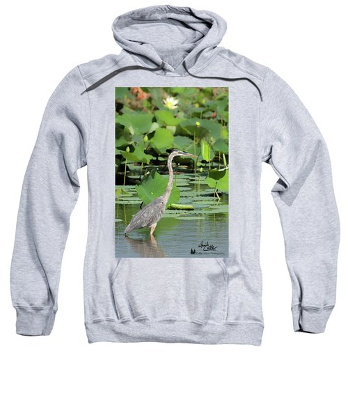 Hunting Among The Lotus Sweatshirt