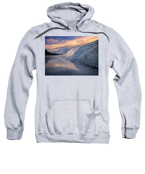 Ice Sheets On Abraham Lake Sweatshirt