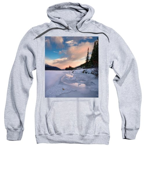 Icefields Parkway Winter Morning Sweatshirt