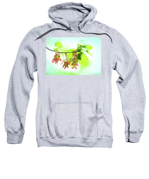 Impressionistic Maple Seeds And Foliage Sweatshirt