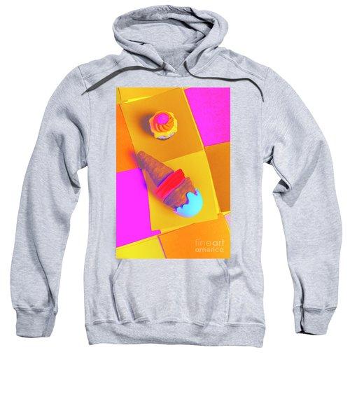 In Bubblegum Tones Sweatshirt