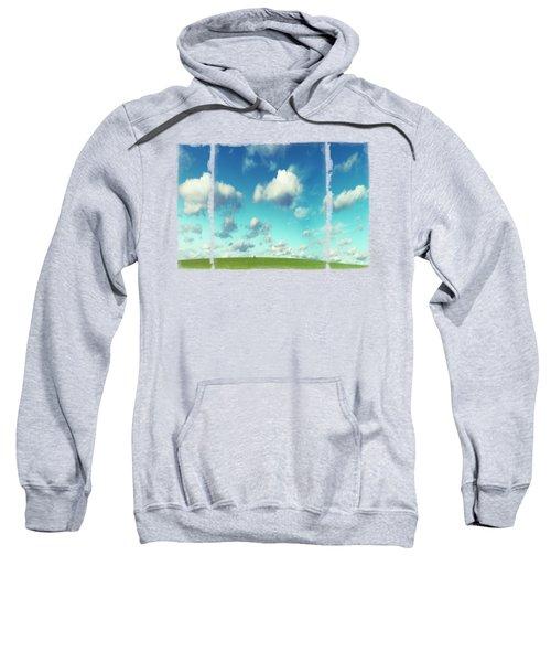 Infinity - Green Land And Summer Sky Sweatshirt