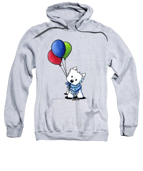 Kiniart Westie With Balloons Sweatshirt