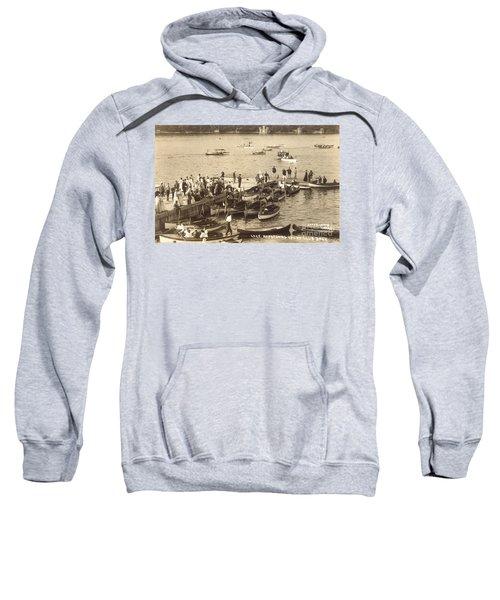 Lake Hopatcong Yacht Club Dock - 1910 Sweatshirt