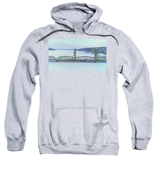 Late Winter Stillwater Lift Bridge Sweatshirt