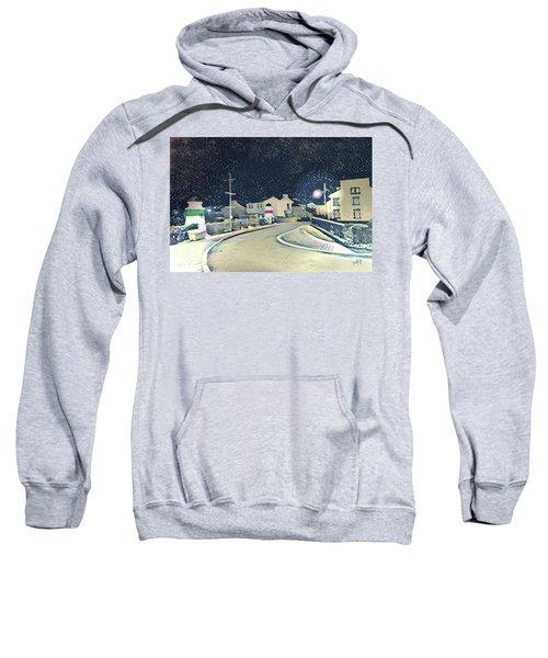 Laxey New Bridge On A Winter's Night Sweatshirt