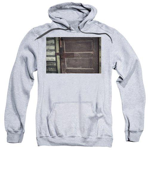 Leather Door Sweatshirt