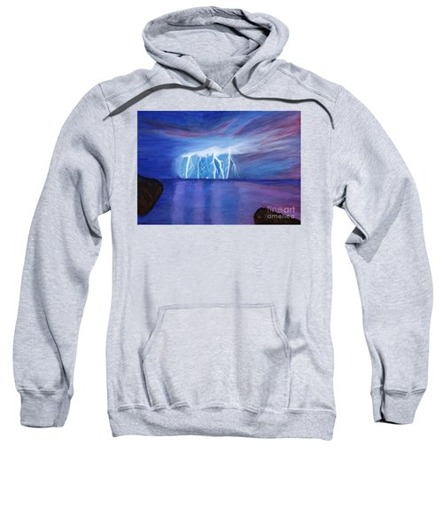 Lightning On The Sea At Night Sweatshirt