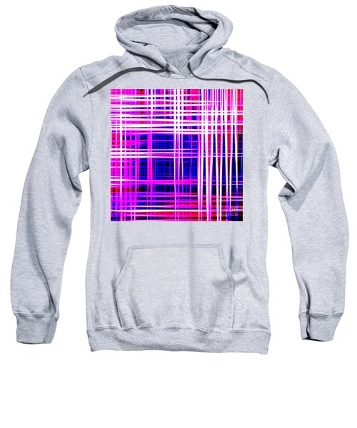 lines and squares in purple Color Waves - PL414 Sweatshirt